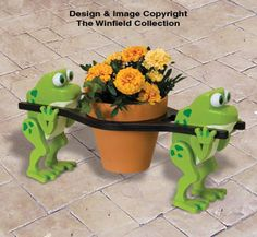 Team Frog Pot Holder Pattern