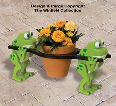 Team Frog Pot Holder Pattern