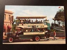 Vintage Main Street U.S.A. Postcard - Town Square - Omnibus by VintageDisneyana on Etsy