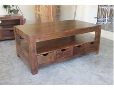 Drewniany stolik kawowy z palisandru
