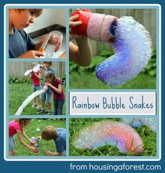"""Best of 2012 post - Rainbow Bubble Snakes.  Huge list of links at the bottom of the post to inspiring """"best of 2012 posts""""."""