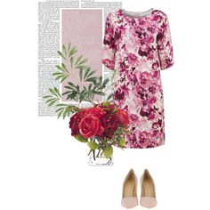 """Jessie rose-printed dress"" by nougatlondon on Polyvore"