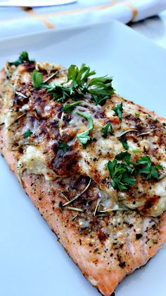 Crab stuffed salmon with jumbo lump crab meat, cream cheese, greek yogurt, and parmigiano reggiano. Quick and easy to whip up!
