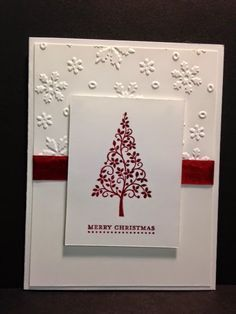 Festival of Trees, Christmas Card, Stampin' Up!, Rubber Stamping, Handmade Cards Stamp a stack