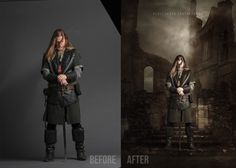 Before & After - Renee Robyn Photography Fun Shots, Actor Model, Color Theory, On Set, Amazing Photography, Around The Worlds, Photoshop, Actors, Studio