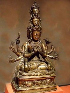 The Bonpo deity Kunsang Galwa Dupa 1300 CE Western Tibet Bronze with silver inlay by mharrsch, via Flickr