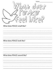 "This worksheet is meant to accompany the story ""What Does Peace Feel Like"" by… Primary Teaching, Teaching Social Studies, Teaching Tips, Remembrance Day Activities, Remembrance Day Art, Peace Education, Religious Education, What Is Peace, Peace And Love"
