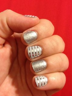 Diamond Dust Sparkle! Silver pinstripe New year... new you! Start 2015 off right make a resolution to have pretty nails! Cheers to a new you! http://www.tanyasjamglam.jamberrynails.net/