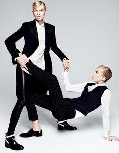 visual optimism; fashion editorials, shows, campaigns & more!: two cool: nastya sten and eva berzina by paola kudacki for vogue japan october 2015