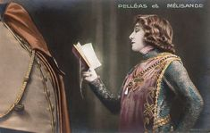 https://flic.kr/p/Dm6HTU | Sarah Bernhardt in Pelléas et Mélisande | French postcard. Photo: Downey. Publicity still for the stage production of Maurice Maeterlinck's play Pelléas et Melisande/Pelléas and Melisande in 1904.   French vedette Sarah Bernhardt (1844-1923) has been referred to as 'the most famous actress in the history of the world'.  She developed a reputation as a serious dramatic actress, earning her the nickname 'The Divine Sarah'. Bernhardt made her fame on the stages of…