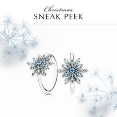 One of the season's must-have styles, this stunning and sculptural ring profiles an eye-catching snowflake in brilliant shades of blue. It will make you feel red carpet ready in an instant.