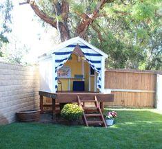 30 DIY Backyard Playground Landscaping Ideas - Page 11 of 30 Kids Backyard Playground, Backyard For Kids, Backyard Projects, Playground Ideas, Diy Projects, Backyard Playhouse, Build A Playhouse, Backyard Fort, Cozy Backyard