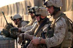 U.S. Marines from 3rd Battalion, 4th Marine Regiment in Husaybah, Iraq,