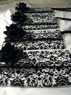 damask clutch. Perfect bridesmaid gift!