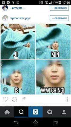 hahah Jimin is watching