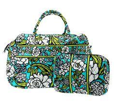 Vera Bradley Signature Print Weekender Bag & Cosmetic Case