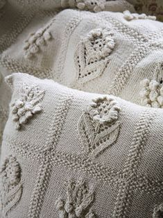 herbaceous throw and cushion, Martin Storey