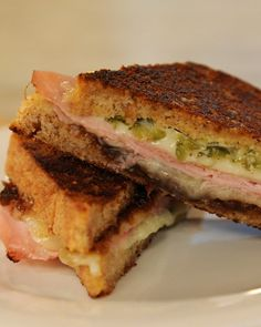 Grilled Ham and Cheese with Cornichon Spread - Martha Stewart Recipes