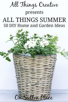 All Things Summer | 50 DIY Ideas for your Home and Garden | On Sutton Place