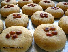 My Diverse Kitchen: Arabic Cardamom Shortbread Cookies (Ghorayebah)