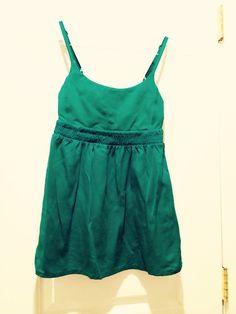 GORGEOUS Lululemon Dance Flow Yoga Tank Top GREEN Empire Waist XS #Lululemon #ShirtsTops