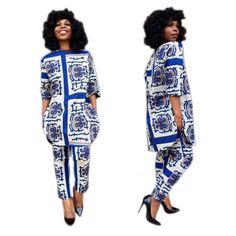 Été Vêtements Traditionnels Africains 2 Pièce Ensemble Femmes Africaine Imprimer Dashiki Robe Africain Vêtements indien bazin riche femmeG007