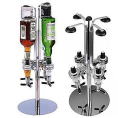 #Rotary 4 bottle  stand #drinks #optics dispenser in spirits wine steel  bar butl,  View more on the LINK: 	http://www.zeppy.io/product/gb/2/281277913238/