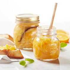 Apelsinmarmelad med vanilj och citron Danish Food, Chutney, Preserves, Smoothies, Scones, Recipies, Brunch, Food And Drink, Tasty