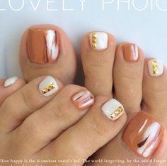 """Cooper"" Toe Nail Art"