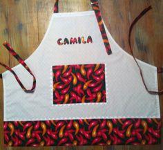 Avental bordado personalizado