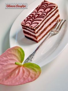 Bibimoni Receptjei: Flamingó mézes krémes Hungarian Desserts, Hungarian Recipes, Hungarian Food, Russian Cakes, Fondant, Biscuits, Food And Drink, Xmas, Sweets