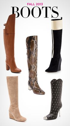 Fall 2013: Must-Have Boots