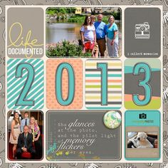 Barbara's Cre8ive Escape: A couple images! | Digi Project Life Intro Page & P&Co pages (layout by Barbara Unzen)