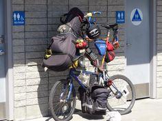 Tall touring bike by Debbie Hawley