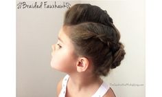 The braid ideas for little girls every mom needs to save: Braided Updo Twist Bun