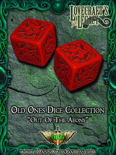 """""""Out Of The Aeons"""" Old Ones Dice Design"""