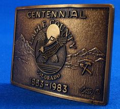 1983 Colorado Centennial Eagle Country Belt Buckle To see the Price and Detailed Description you can find this item in our Category Vintage Western and Primitives on eBay: http://stores.ebay.com/tincanalley1/Vintage-Western-and-Primitives-/_i.html?_fsub=26200601018  RD15102