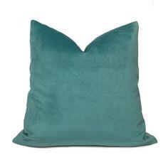 Robert Allen Touche Solid Seafoam Green Velvet Pillow Cover