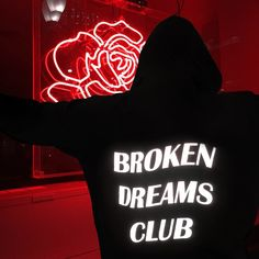 2017 new fashion sweatshirts BROKEN DREAM CLUB Reflective Unisex Hoodie Black