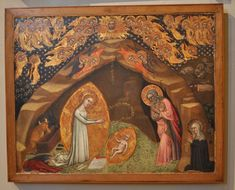 This painting is the earliest artistic representation of bridget's vision of the nativity. (see the description page. Kids Nativity Set, Christmas Nativity Scene, Painting Videos, Hair Painting, Painted Rocks Kids, Rock Painting Ideas Easy, Pebble Art, Stone Art, Word Art