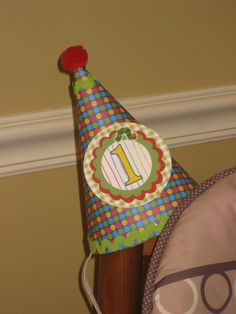 DIY Party Hat For The Birthday Boy Kristen Jensen 1 Year Old