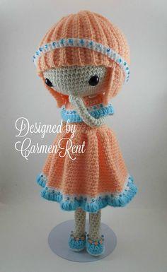 Camille Amigurumi Doll Crochet Pattern PDF