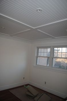 Finished Beadboard Ceiling.