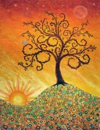 Lisa Loudermilk My favorite modern artist! Such happy art! Tree Of Life Art, Tree Art, Hippie Art, Modern Artists, Naive, Beautiful Artwork, Painting Inspiration, Logo Inspiration, Art Boards