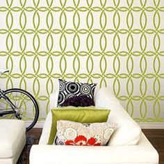 Allover Pattern Stencils: Chain Link Stencil  1/2 Bath Wall Stencil  @Justin Wilson do you like this pattern?