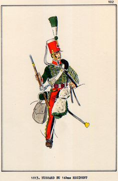 French; 14th Hussars, Hussar, 1813