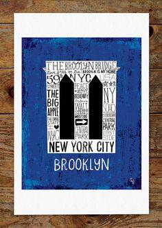 Hey, I found this really awesome Etsy listing at https://www.etsy.com/listing/156625582/11x14-brooklyn-bridge-new-york-city-hand