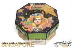 Vintage Hollywood Octagon Box  Project by Alexandra Morein  Product by Graphic 45  Photo 1