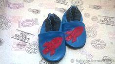 """Купить Детские тапочки"""" Ракета""""(oт0-11лет) кожаная обувь,чешки в интернет магазине на Ярмарке Мастеров"""