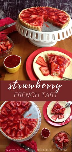 This strawberry tart recipe is perfect to make when you need a quick and easy elegant dessert! Easy Tart Recipes, Best Dessert Recipes, Baking Recipes, Delicious Desserts, Desert Recipes, Dessert Ideas, Yummy Food, French Strawberry Tart Recipe, Strawberry Recipes